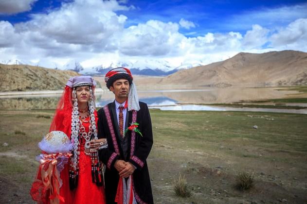 Tajik wedding near Karakul Lake
