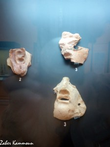 Masques musée utique اقنعة متحف اوتيك
