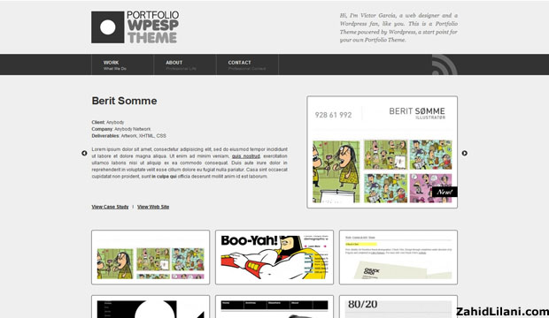 Portfolio - FREE WordPress Theme