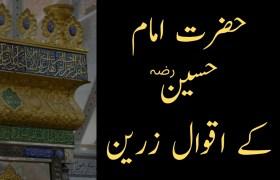 Hazrat Imam Hussain Quotes in Urdu and Hindi