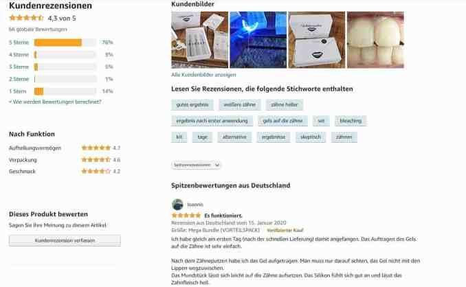 Whitesensation Kundenbewertungen