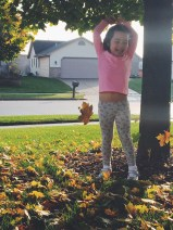 Throwing said leaves