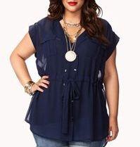 e044cba9b5 Estas blusas de gasa me parecen de lo más femeninas y estilosa. Te van a  ayudar a disimular tripa y ganar estilo sí o sí