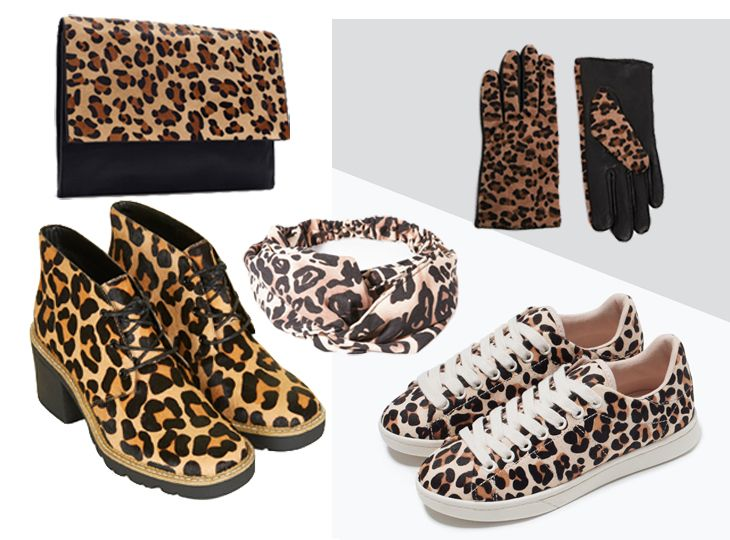 Complementos de estampado de leopardo