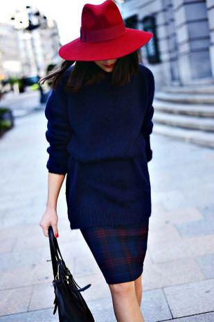 jersey-falda-lápiz