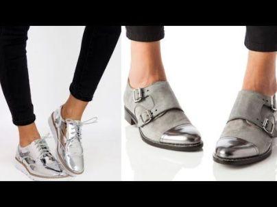 zapato con detalle plateado