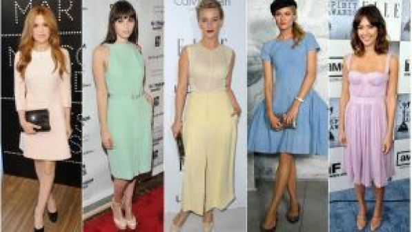 Total looks con colores pastel
