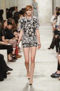 CHANEL resort 2014 Singapore - black and white top with shorts