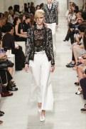 CHANEL resort 2014 Singapore - Women's black jacket and white pants