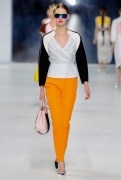 Dior Cruise 2014 - Orange pants and black and white top