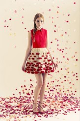 Alice + Oliva Resort 2014 - Red and white dress with lips