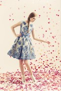 Alice + Oliva Resort 2014 - White and blue lace dress