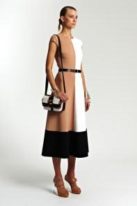 Michael Kors Resort 2014 - Beige, white and black dress