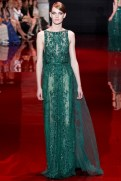Elie Saab Fall 2013 Couture - Green dress V
