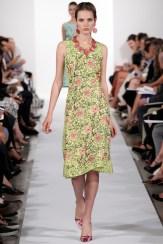 Oscar de la Renta Spring 2014 - Green floral dress