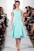 Oscar de la Renta Spring 2014 - mint blue dress