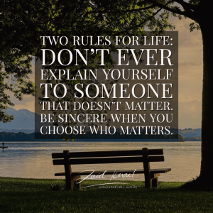 Read more about the article Two rules for life