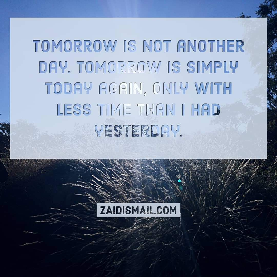 You are currently viewing Seize the moment…not the day