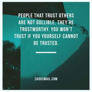 Read more about the article Give trust, before taking it away