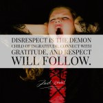 Read more about the article Gratitude spawns respect