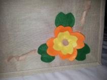 Felt flower on bag
