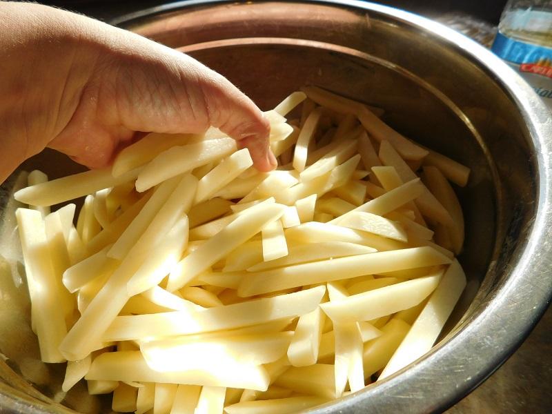 пържени картофи в микровълнова