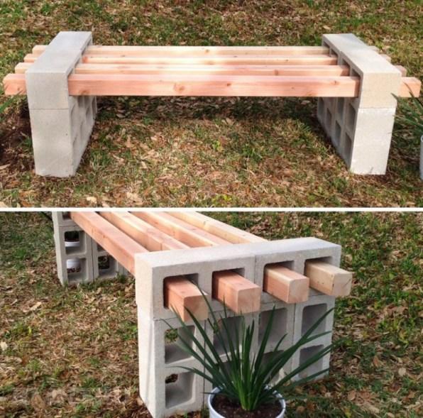 дървена пейка за градината