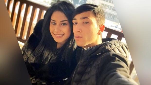 Лоренцо с приятелката си