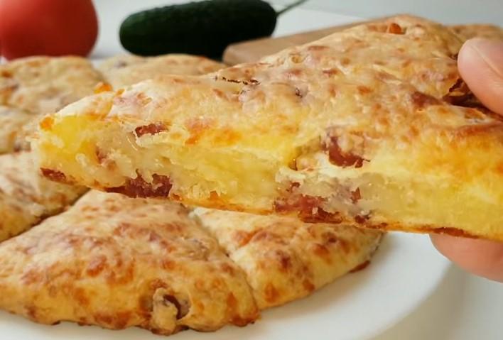 хлебчета със салам и кашкавал