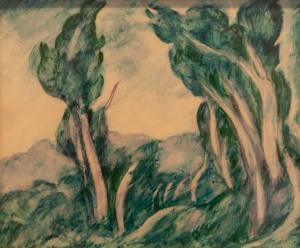 Косарєв Б. 'Верби', 1922, к.темп.