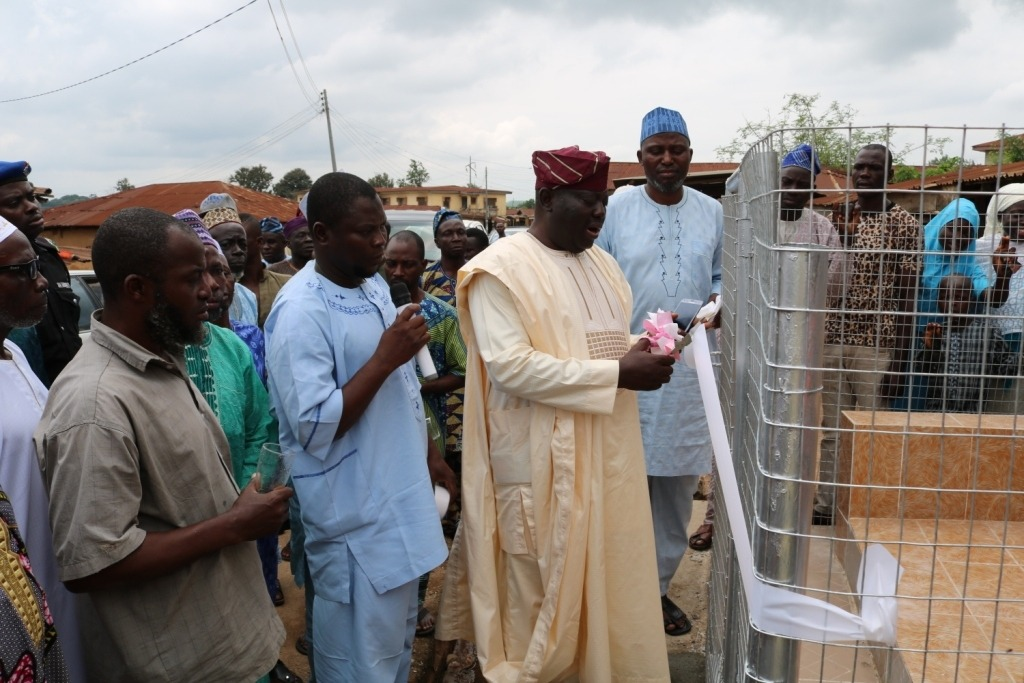 COMMISSIONING OF BOREHOLE WATER PROJECT, AUGUST 2019, OSUN STATE
