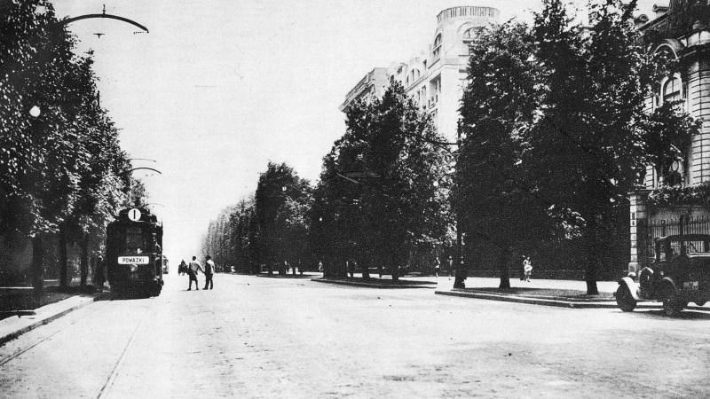 Aleje Ujazdowskie w Warszawie, gdzie AK dokonała zamachu na Franza Kutecherę
