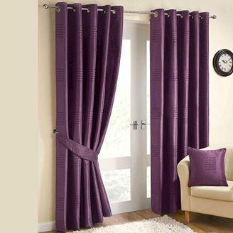 шторы фиолетовые на люверсах в современном стиле