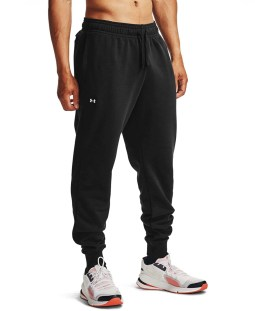 UNDER ARMOUR RIVAL FLEECE JOGGERS 1357128-001 Μαύρο