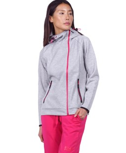 BODY ACTION GYM TECH ZIP HOODIE 071921-01-03D Γκρί