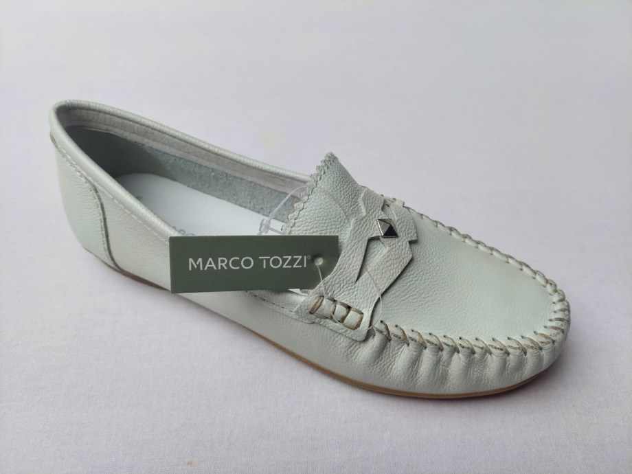 Dámské bílé mokasíny Marco Tozzi