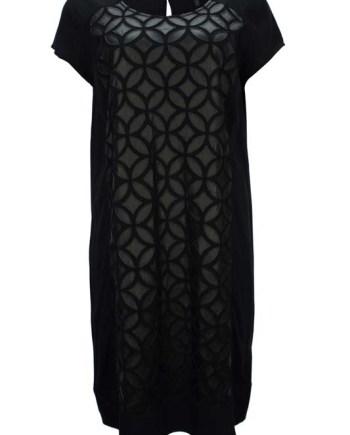 Dámské černé šaty s lesklou aplikací