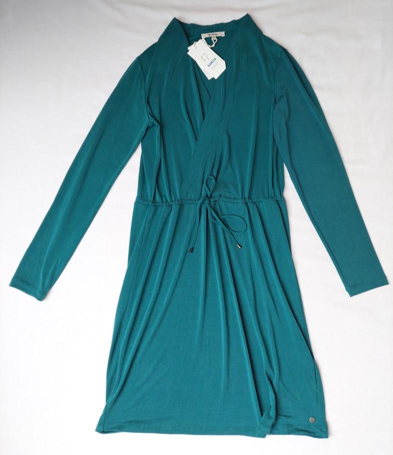 Šaty zelené dlouhý rukáv Garcia 2