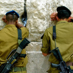 Header soldiers at the Wailing Wall