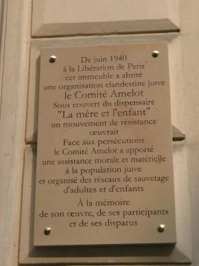 36 rue Amelot, une plaque commémorative