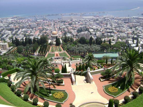 Le Centre Mondial de la Foi baha'i, sur le Mont Carmel, Haïfa