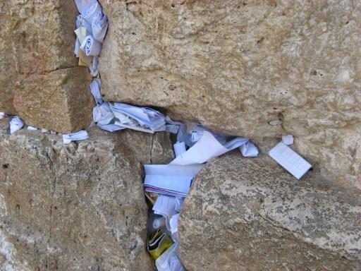 Entre les pierres du Mur des Lamentations