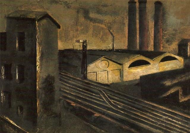 Mario Sironi, Urban landscape with chimneys 1921