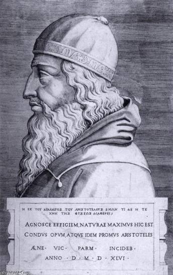 Aristote, gravure d'Enea Vico