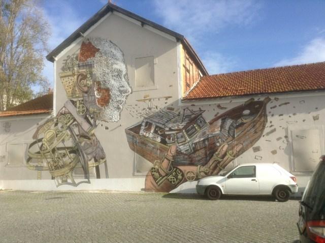 Graffiti le long du Tage