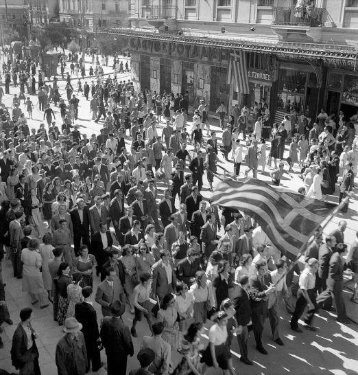 Libération d'Athènes, octobre 1944