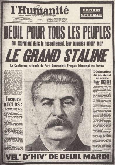 L'Humanité 5 mars 1953