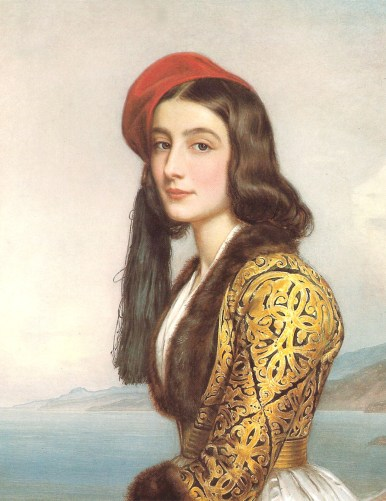 Portrait de la fille de Botzaris