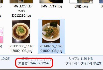 写真の大きさ1
