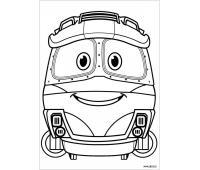 Раскраски для детей по мультфильму Роботы-поезда
